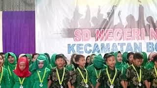 Pelepasan siswa-siswi sdn neglasari menyanyikan lagu kepompong
