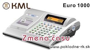 Zmena času - pokladnica Euro 1000