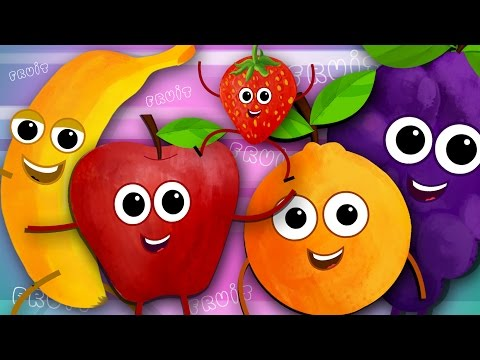 Five Little Fruits | Fruits Song | Learn Fruits | Nursery Rhymes | Kids Songs | Kids Tv