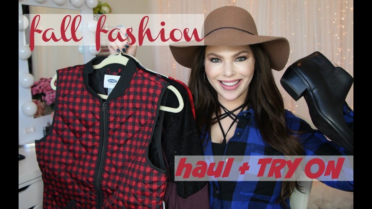 Fall fashion haul try on youtube fall fashion haul try on sciox Images