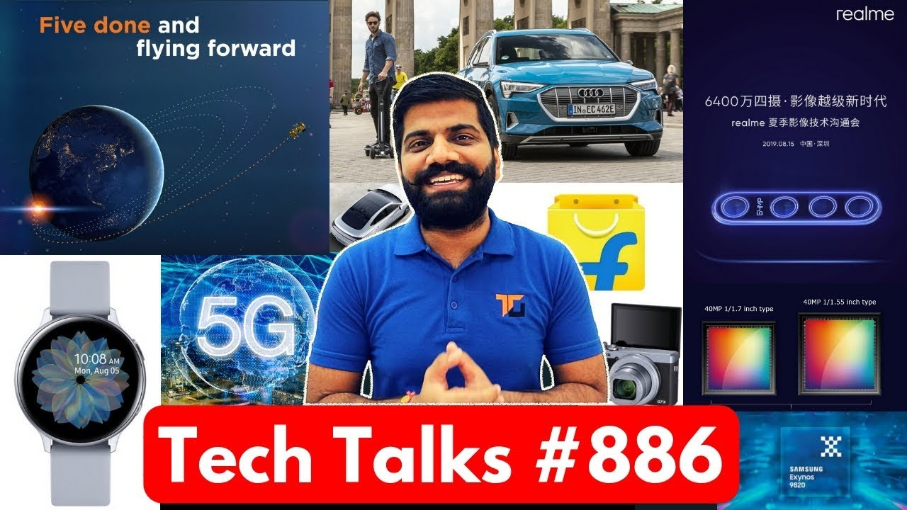 Tech Talks #887 - Realme 64MP Phone Launch, Redmi Note 8 Confirm, 2021 iPhone, Chandrayaan2