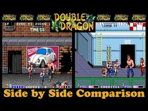 Double Dragon 1 And 2 Arcade Side By Side Comparison On Ps4