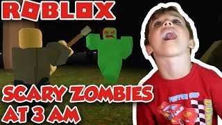 SCARY ZOMBIES à ROBLOX ISLAND À 3 am DON'T PLAY CE JEU SEUL