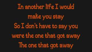 katy perry the one that got away lyrics on screen