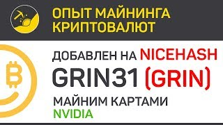 GRIN31 на NiceHash сравниваем профит, майним картами Nvidia | Выпуск 157 | Опыт майнинга криптовалют