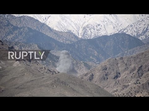 Afghanistan: Smoke rises above Achin district following 'mother of all bombs'