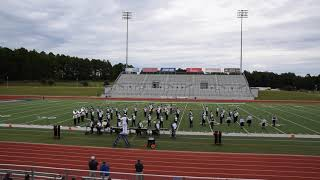 HOOKS HIGH SCHOOL BAND 2018 UIL MARCHING CONTEST AT PINE TREE HIGH SCHOOL IN LONGVIEW TEXAS
