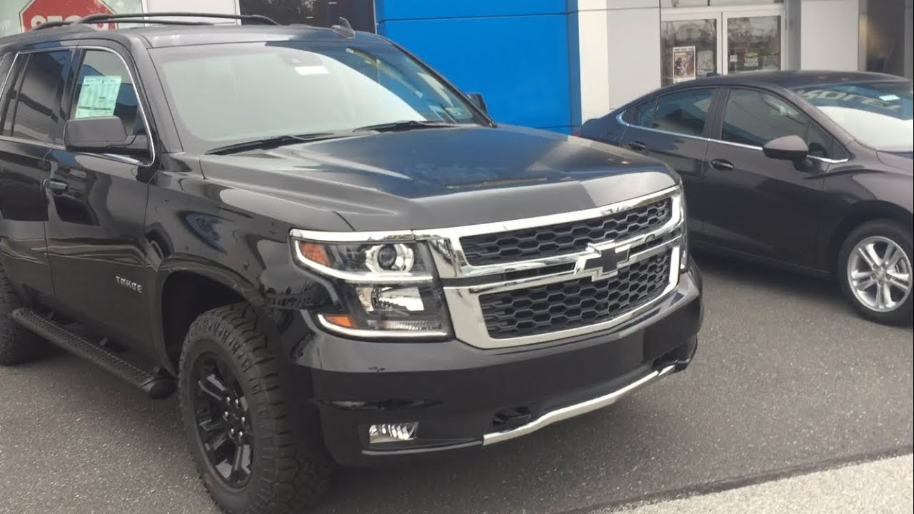2017 chevrolet tahoe z71 midnight edition just wow youtube. Black Bedroom Furniture Sets. Home Design Ideas