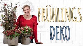 FRÜHLINGSSTRAUß MIT ÄSTE - FRÜHLINGSDEKO DIY