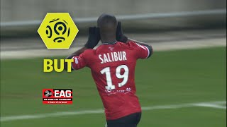 But Yannis SALIBUR (8') / RC Strasbourg Alsace - EA Guingamp (0-2)  / 2017-18