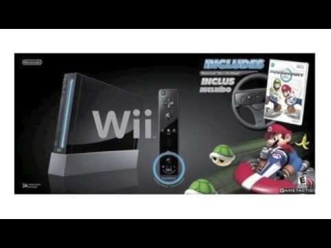 Nintendo black wii console with mario kart bundle review - Wii console mario kart bundle ...