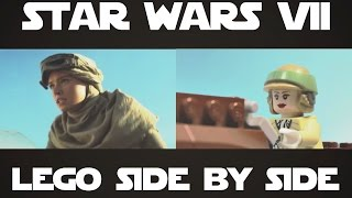 LEGO Star Wars: Episode 7 - The Force Awakens trailer Side by Side
