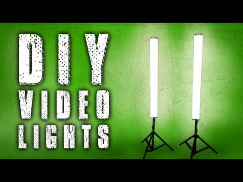 How To Diy Fluorescent Video Lights Poor Man Kino Flo Youtube