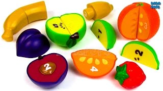Learning and Cutting Fruits for Children with Toy Food|Learn count 1 To 5|Counting to 5|1 2 3 4 5