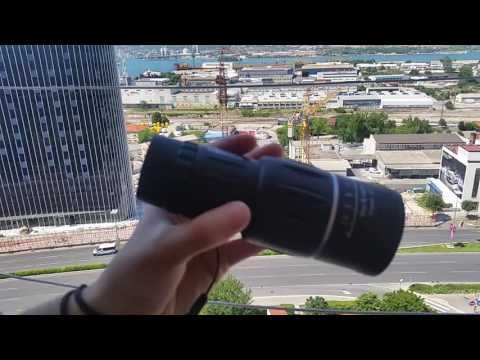 Bushnell Portable 16 x 52 HD Monocular  -  BLACK
