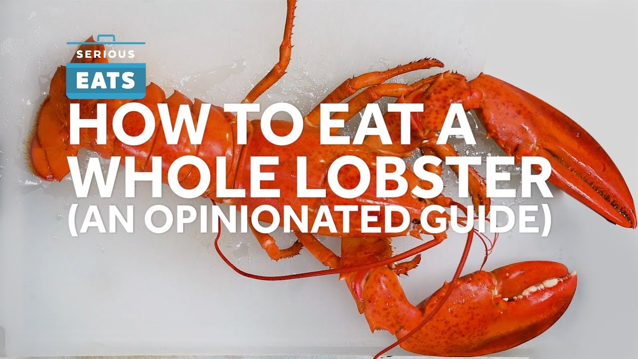 How to Shell and Eat A Whole Lobster - YouTube