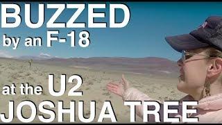 vuclip Buzzed by an F-18 at U2's Joshua Tree album photo location