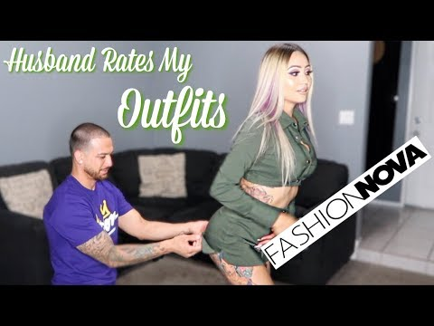 Husband Rates My Fashion Nova Outfits (Try On Haul)