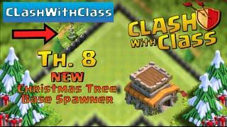 New X-mas Tree Base!! Clash Of Clans Christmas Update Tree Spawner!!