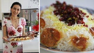 Зерешк Поло - Праздничный Плов Из Риса Басмати - Иранская Кухня - Heghineh Cooking Show in Russian