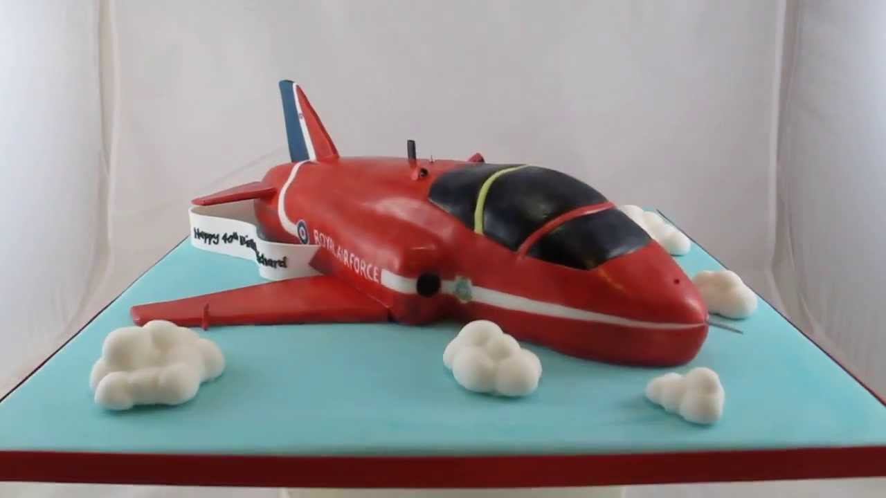 Red Arrow Plane Carved Birthday Cake Youtube