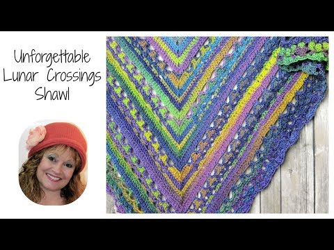 Lunar Crossings Shawl Free Crochet Pattern