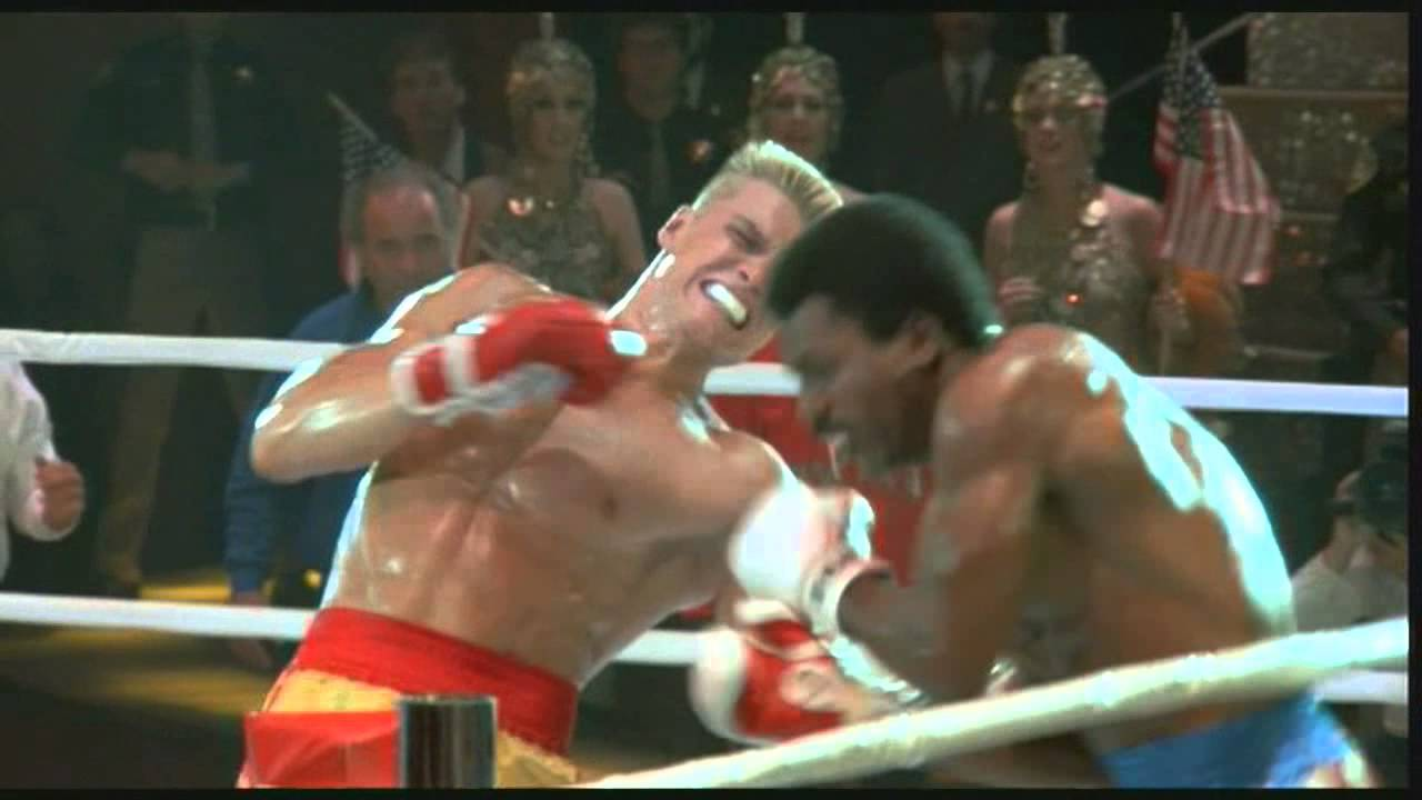 apollo creed carl weathers drago dolph lundred in the movie Rocky movie prop apollo creed usa stallone carl weathers boxing prop un   rocky iv - personally signed 14x11 - dolph lundgren as drago (a.