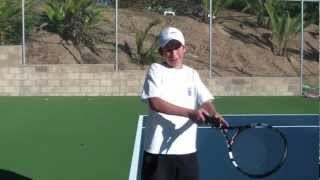 Roger Federer forehand - slow motion, and instruction from JuniorTennisUSA.com
