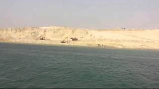 the first ferry in the new June 2015 Suez Canal