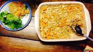 Baked Rice and Butternut Squash with Chicken