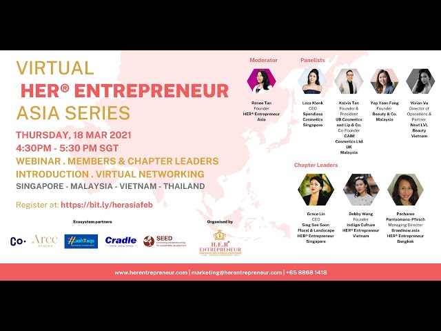 Beauty, Skincare & Tech | HER® Entrepreneur Asia Series March 2021