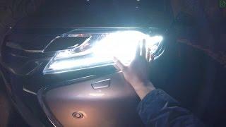 Mitsubishi Pajero Sport - ночной обзор (4k, 3840x2160)