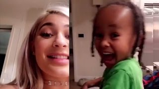 Kylie Jenner Shares ADORABLE Snapchats With King Cairo, Babysits After Blac Chyna Gives Birth
