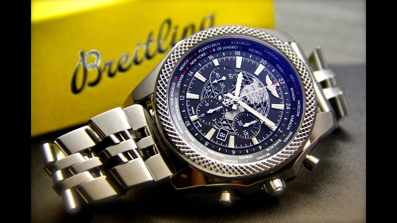on silver automatic edition special watches steel dial barnato chronograph breitling bentley bracelet stainless