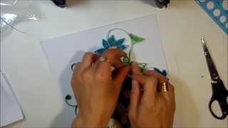 как сделать пано из бумажных лент с розами . Квиллинг для начинающих