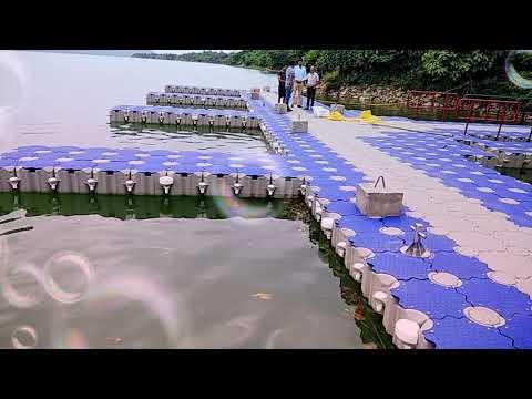 Floating structure AT R. S Lake near TRC Basohli /Plahi.