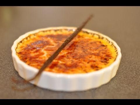 Recette de la crème brûlée à la vanille par HervéCuisine