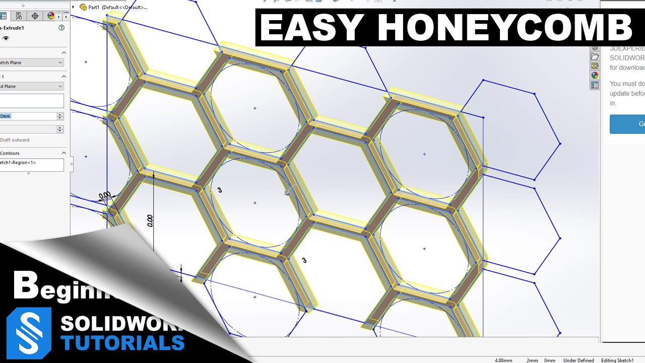 Solidworks Solidworks Tutorial Honeycomb Solidworks