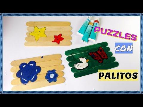 Manualidades para ni os diy puzzles con palitos de helado - Manualidades con palitos ...