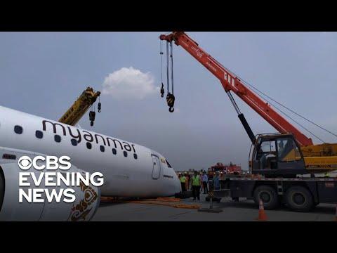 Jetliner halted on