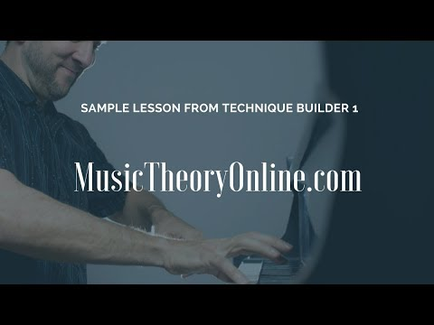 Learn Music Theory Online - Technique Builder Sample 1