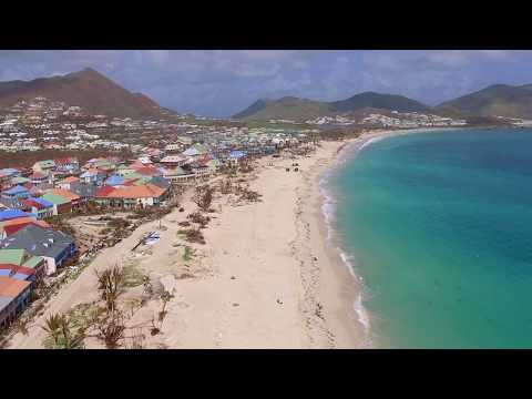ST. MARTIN -- Orient Beach Then And Now After Hurricane Irma