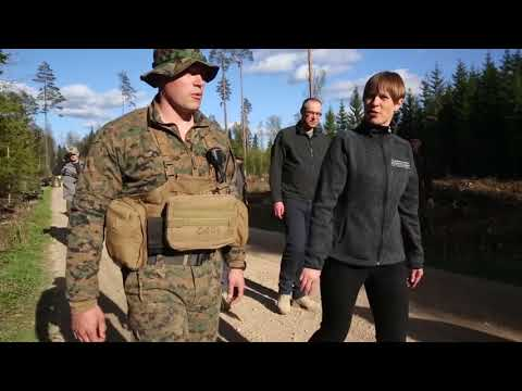 DFN:Estonian President visits U.S. Marines and Sailors in Es