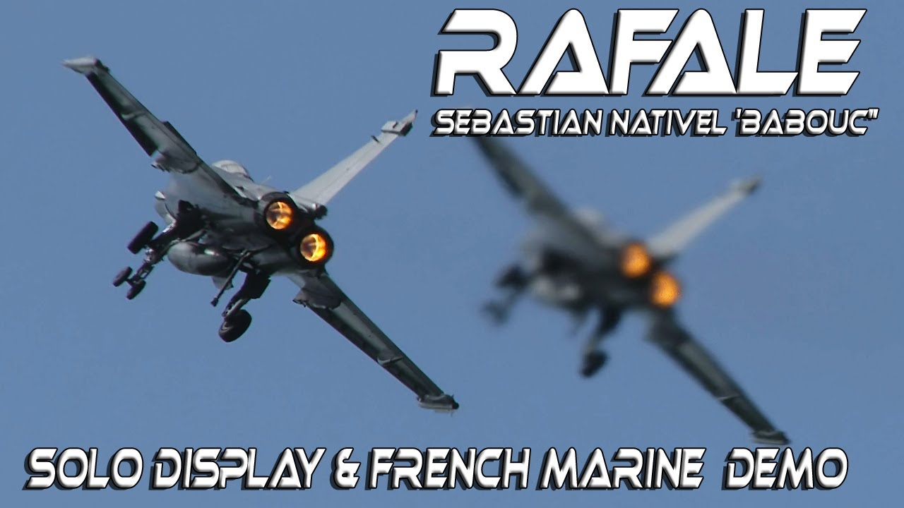 "4K UHD Rafale French Marine Demo and Solo Display  Sebastian Nativel 'Babouc"""