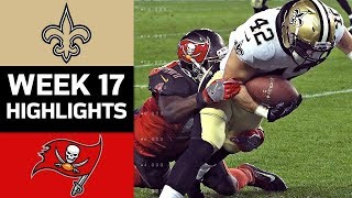 Saints vs. Buccaneers | NFL Week 17 Game Highlights