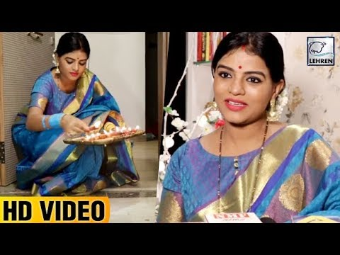 Afsar Bitiya Actress Mitaali Nag Celebrates Diwali  FULL