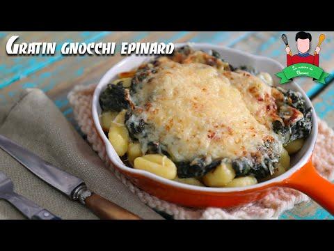 recette-:-gratin-de-gnocchi-épinard-et-chèvre