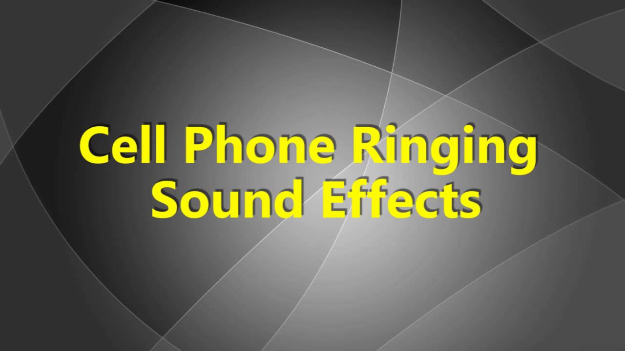 mobile phone ringtone sound effect