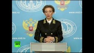 Ответ Захаровой украинскому журналисту, что такое АТО, боевики.
