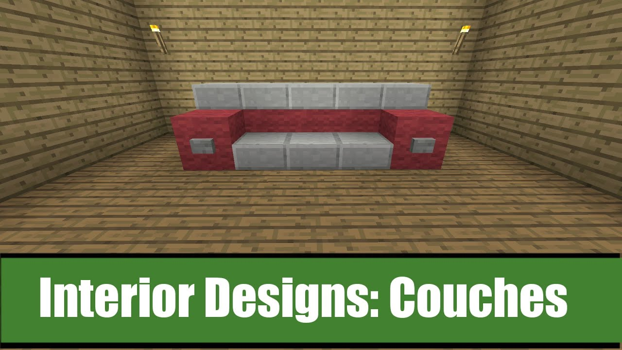 minecraft interior designs couch ideas youtube